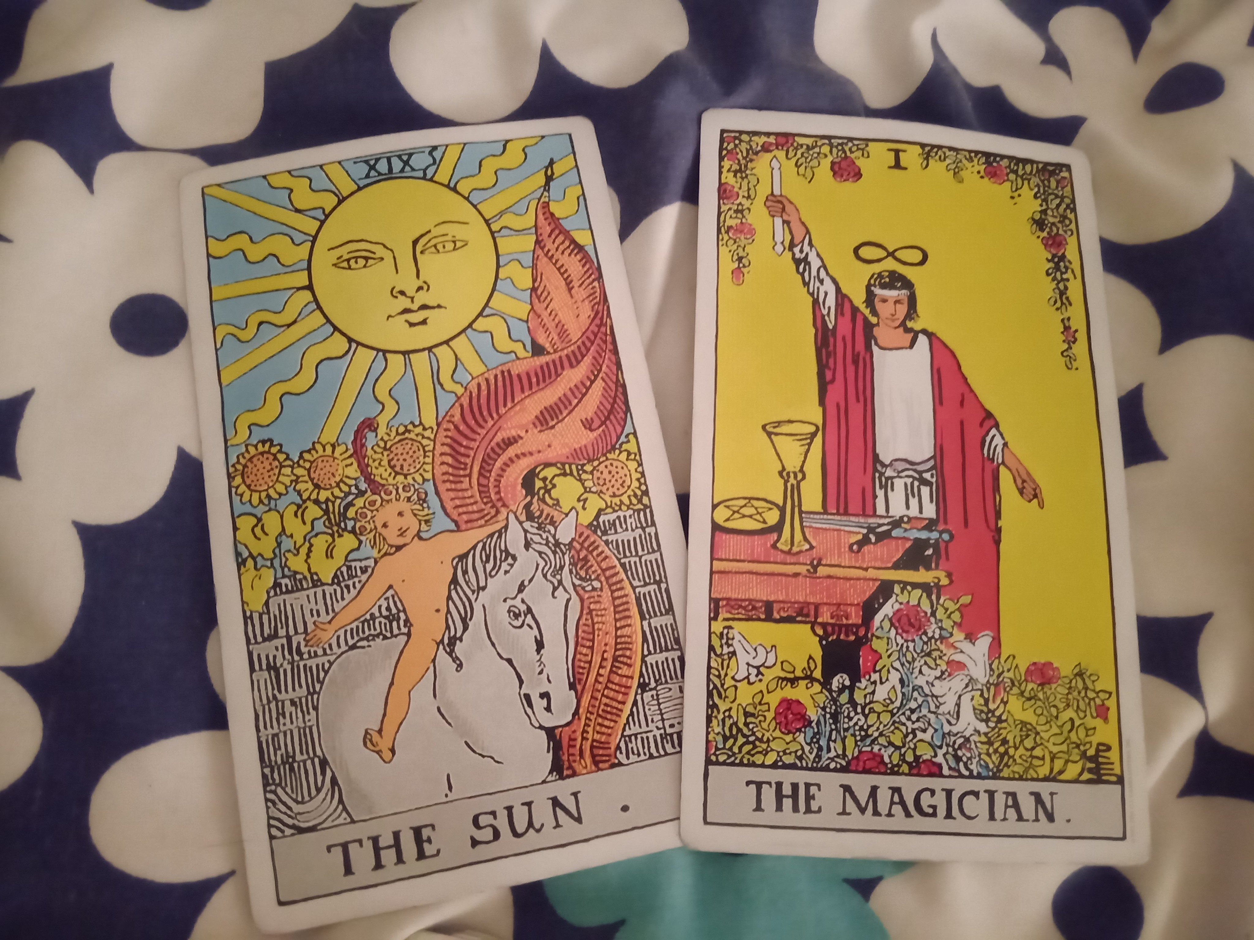 XIX The Sun + I The Magician from the RWS Deck